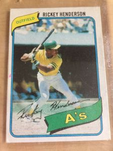 Rickey Henderson rookie photo